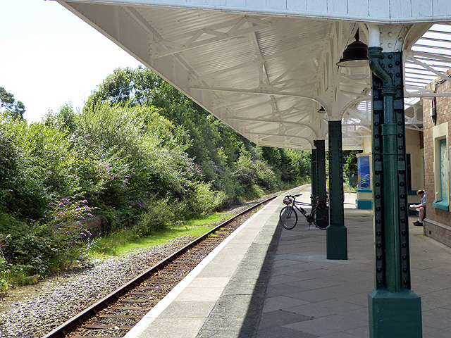 Bicycle on the platform