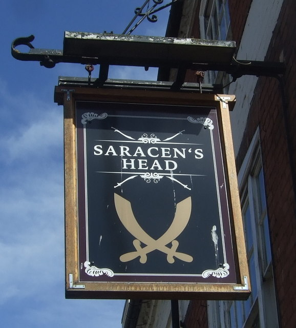 Sign for the Saracen's Head, Worcester