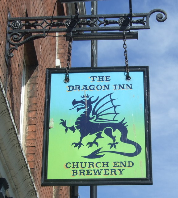Sign for the Dragon Inn, Worcester