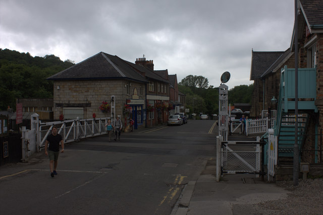 Grosmont level crossing from the east.