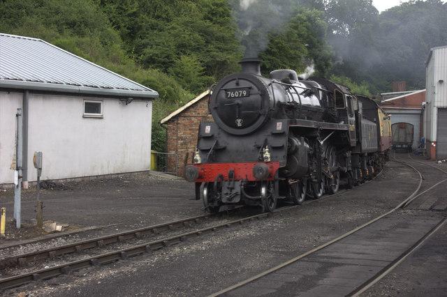 Grosmont. Pickering train