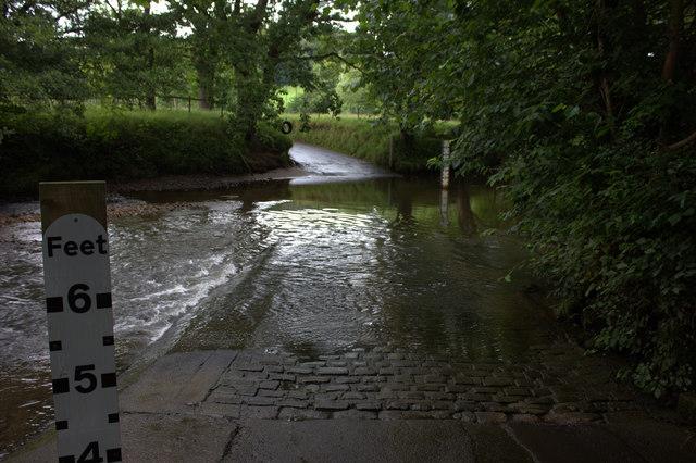 Grosmont. Ford through the river Esk