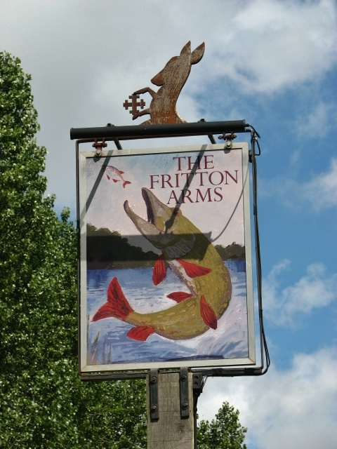 The Fritton Arms (pub sign)