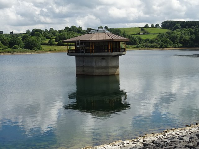 Valve tower at Carsington Water