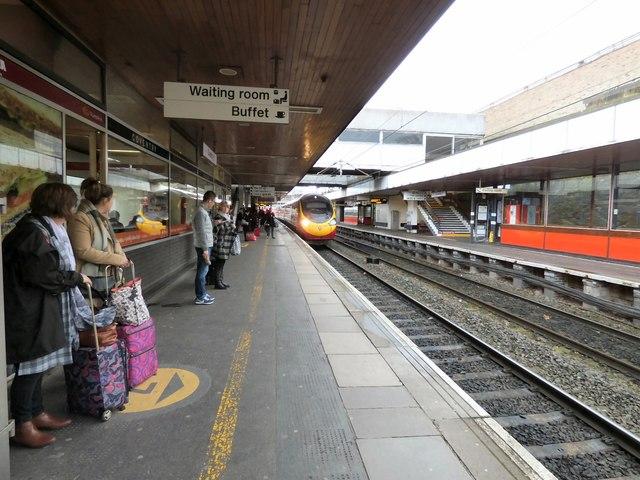 Waiting for the Edinburgh train