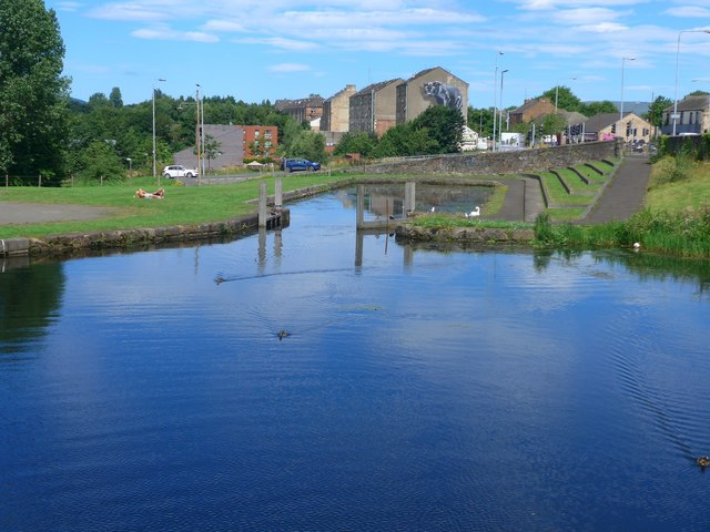 Dry dock on the Forth & Clyde Canal