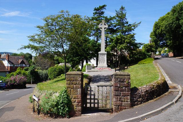 War memorial garden in Minehead