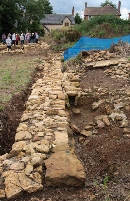Croxton Kerrial 12thC Medieval Manor House: excavations (4)