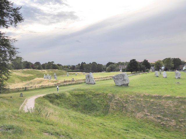 Avebury: view across the Beckhampton road to the south-west quadrant
