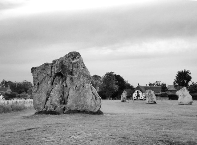 Standing stone at the southern entrance to Avebury