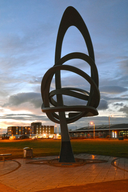 Port Talbot : Kitetail sculpture