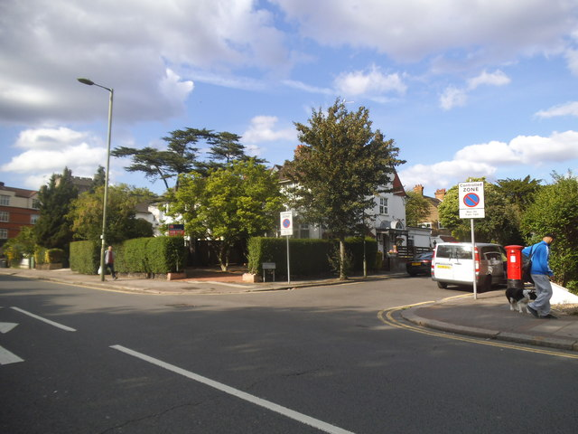 Finchley Road at the junction of Corringham Road