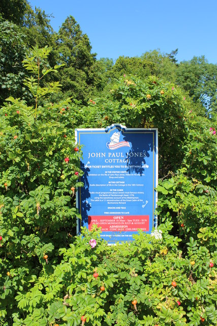 Information Sign at John Paul Jones' Cottage