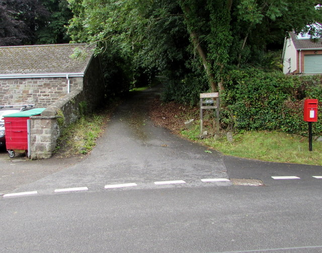 Access road to three houses, Govilon