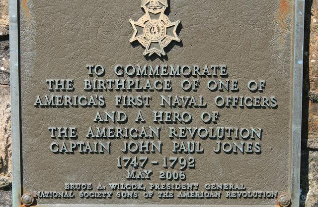 John Paul Jones' Memorial Plaque