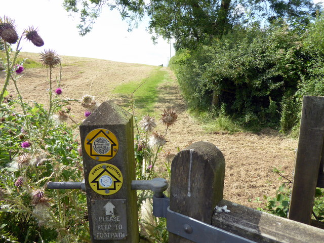 Limestone Link sign and Footpath at Ubley Grove