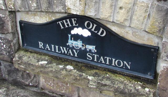 The Old Railway Station name sign, Govilon