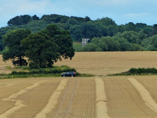 Farmland on the northern edge of Oadby