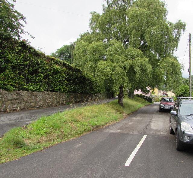 Junction of School Lane and Cwm Road, Govilon