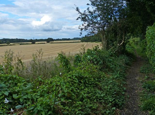 Public footpath on the edge of Oadby