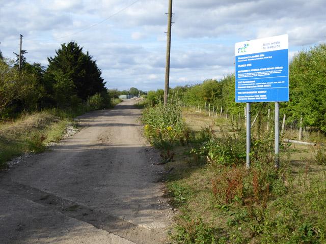 Entrance to Wraysbury Landfill Site