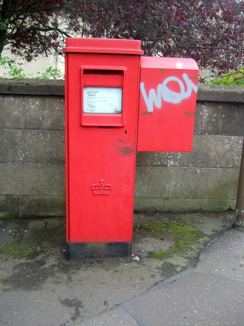 Elizabethan postbox on Grange Loan Edinburgh EH9