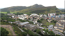 NT2674 : View from Nelson's Monument towards Salisbury Crags and Arthur's Seat by Gareth James