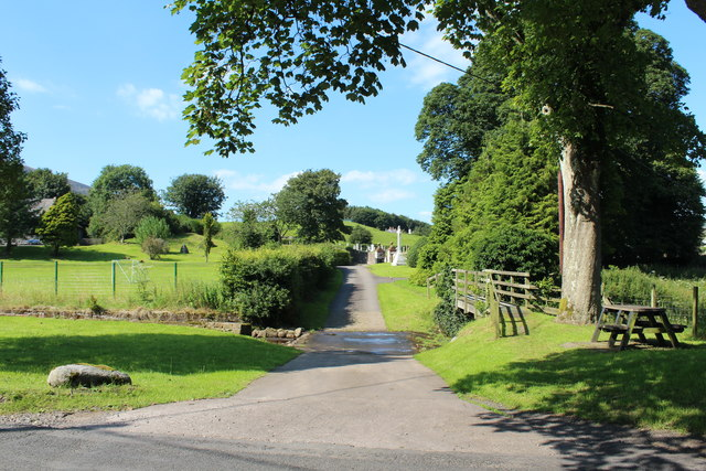 Road to Kirkbean Churchyard