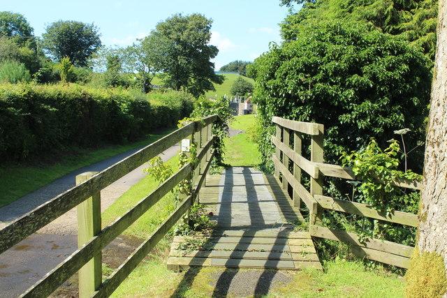 Footbridge over the Kirkbean Burn