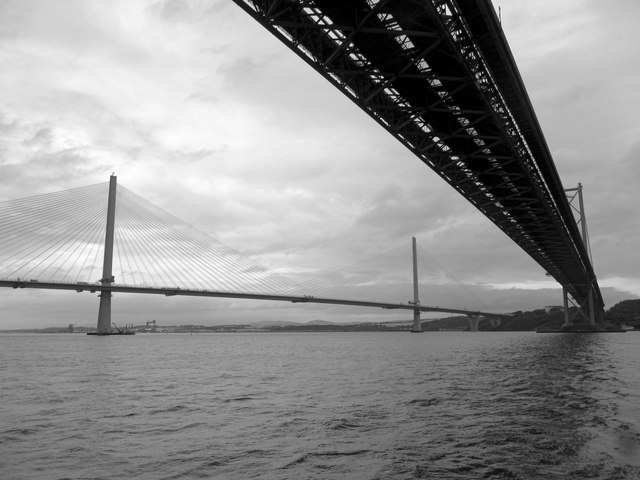 The Forth Road Bridge and Queensferry Crossing