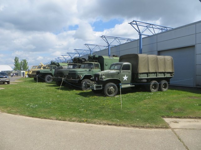 Line up of Trucks