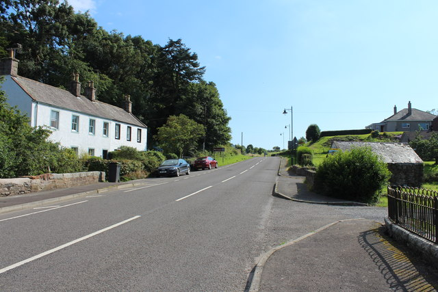 The A710 to Dalbeattie at Kirkbean