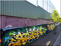 J3274 : West Belfast Peace Wall, Cupar Way by David Dixon
