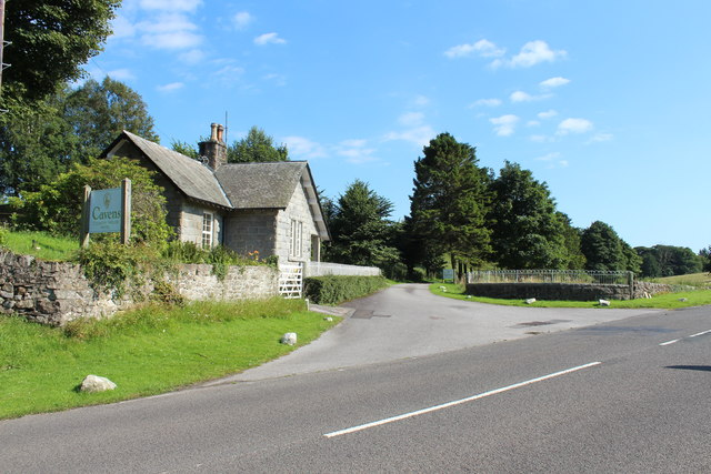Road into Cavens Country House Hotel