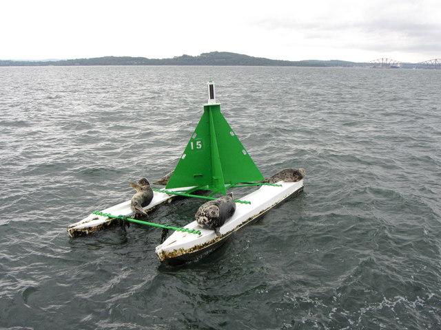 Firth of Forth navigation buoy Number 15