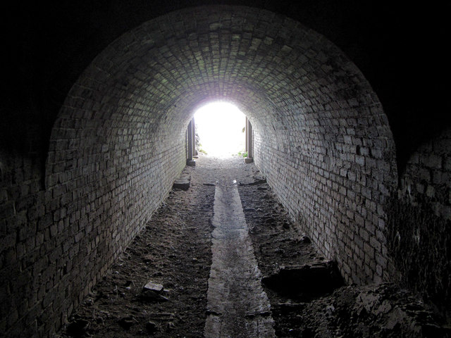 Inside the WWI tunnel on Inchcolm