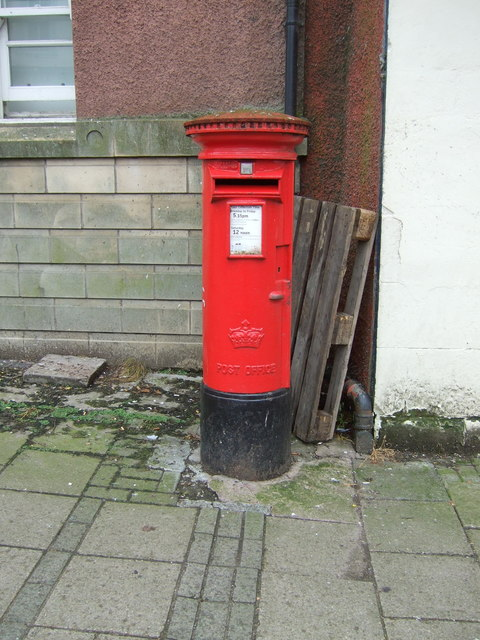 Elizabethan postbox on High Street, Penicuik