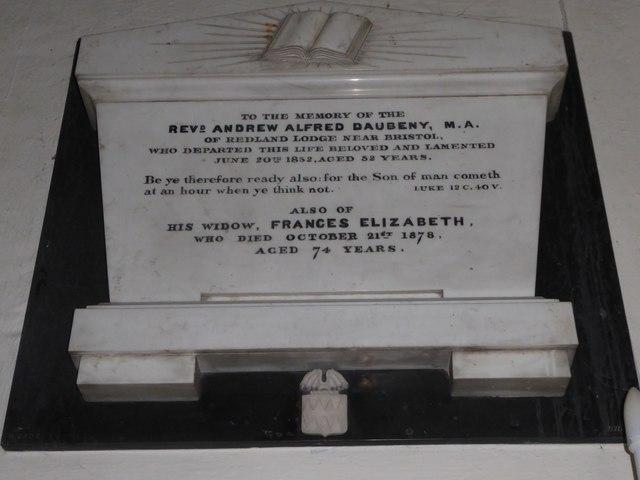 St Andrew, Backwell: memorial (2)