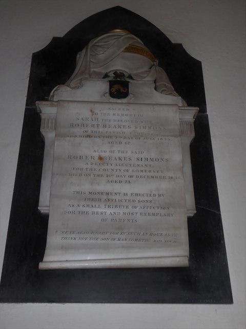 St Andrew, Backwell: memorial (3)