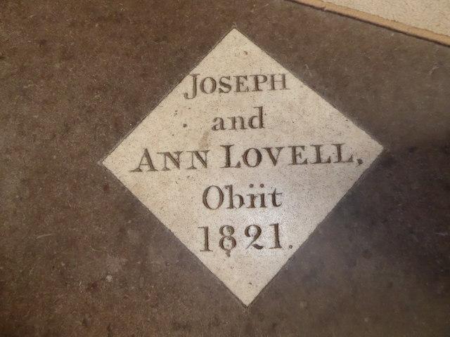 St Andrew, Backwell: memorial (4)