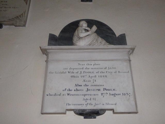 St Andrew, Backwell: memorial (6)