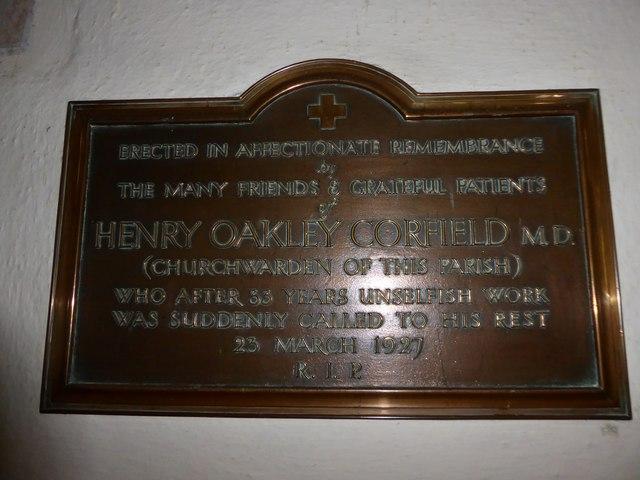 St Andrew, Backwell: memorial (9)