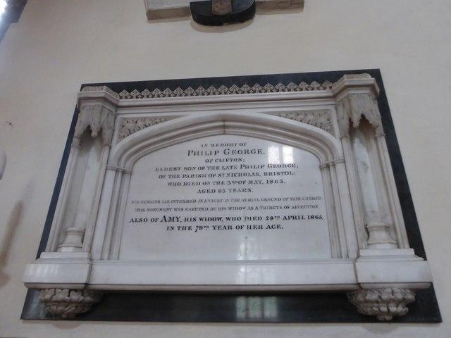 St Andrew, Backwell: memorial (12)