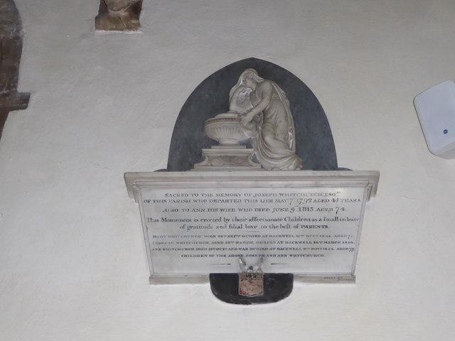 St Andrew, Backwell: memorial (13)