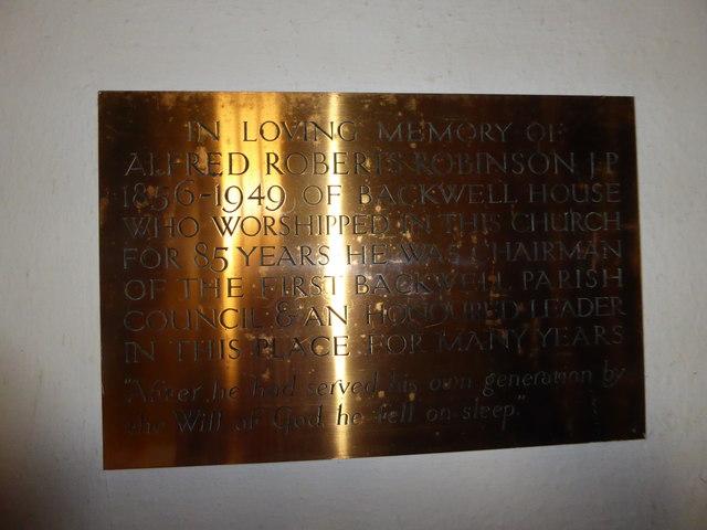 St Andrew, Backwell: memorial (17)