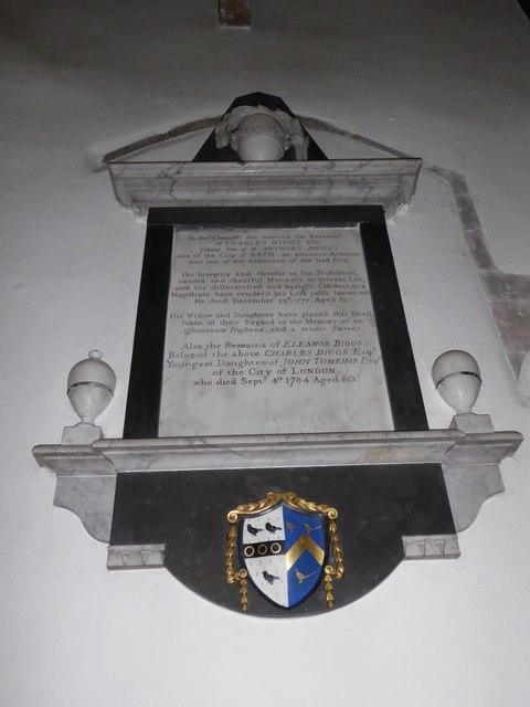 St Andrew, Backwell: memorial (18)