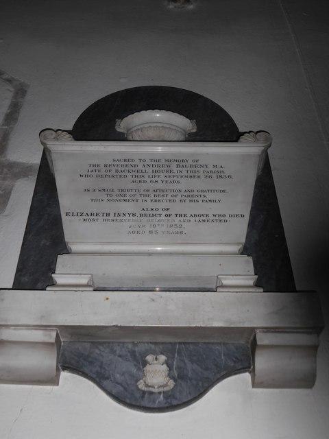 St Andrew, Backwell: memorial (19)