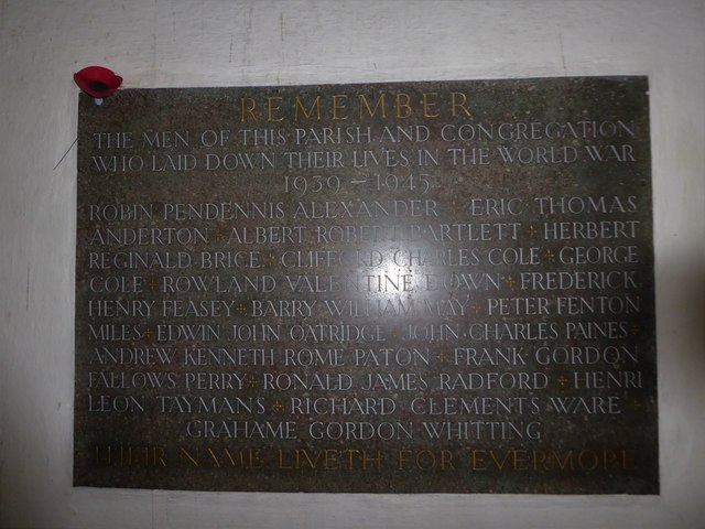 St Andrew, Backwell: memorial (20)