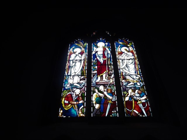 St Andrew, Backwell: stained glass window (I)