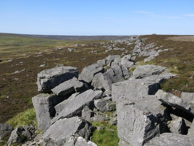 Rock outcrop on Monk's Moor